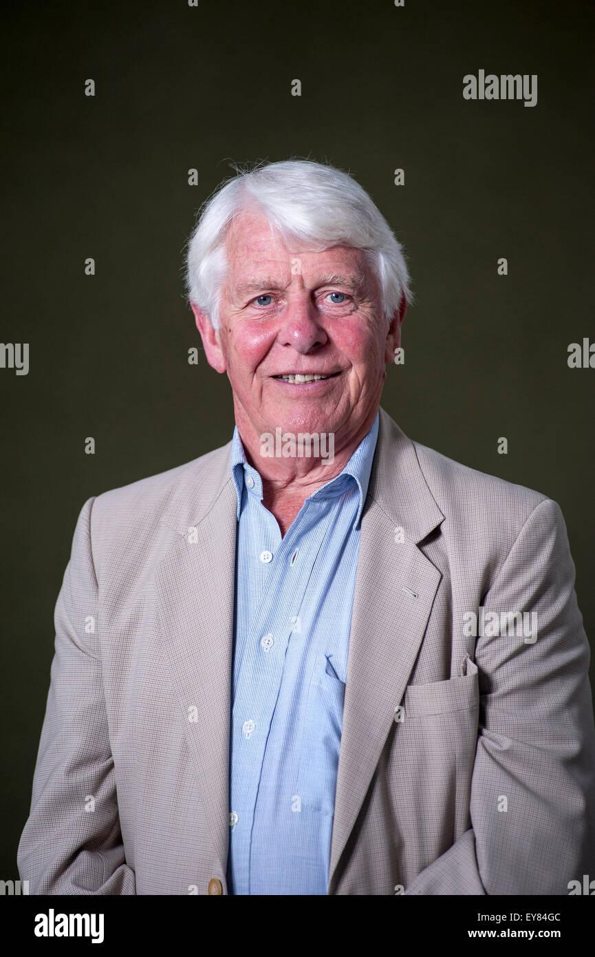 Kornische Explorer, Robin Hanbury-Tenison, erscheinen auf dem Edinburgh International Book Festival. Stockbild