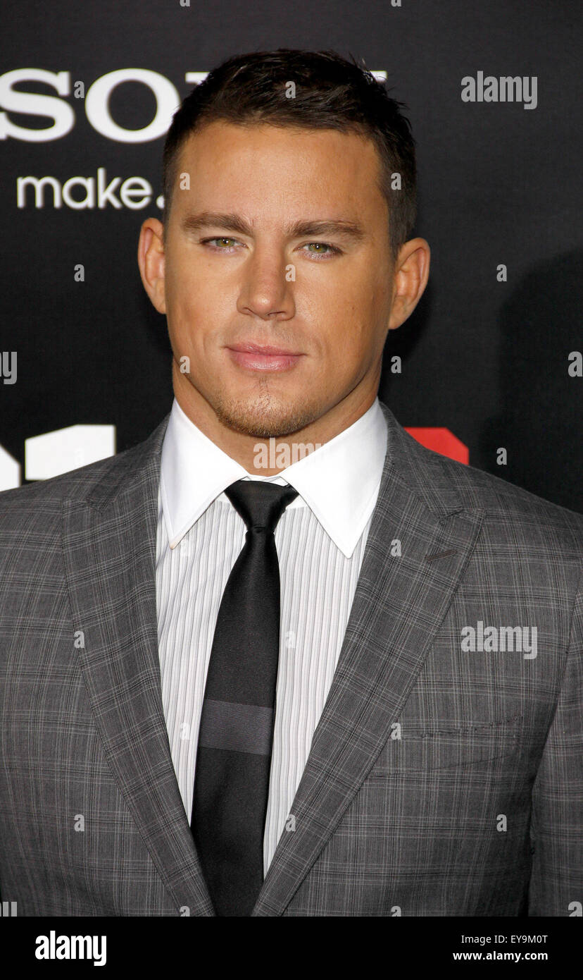 "Channing Tatum bei der LA-Premiere von ""21 Jump Street"" im Grauman es Chinese Theater in Hollywood am Stockbild"