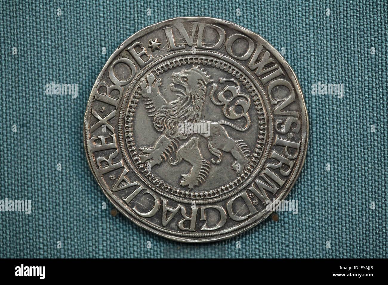 Böhmischen Joachimsthaler Silber Münze Im 16 Jahrhundert In