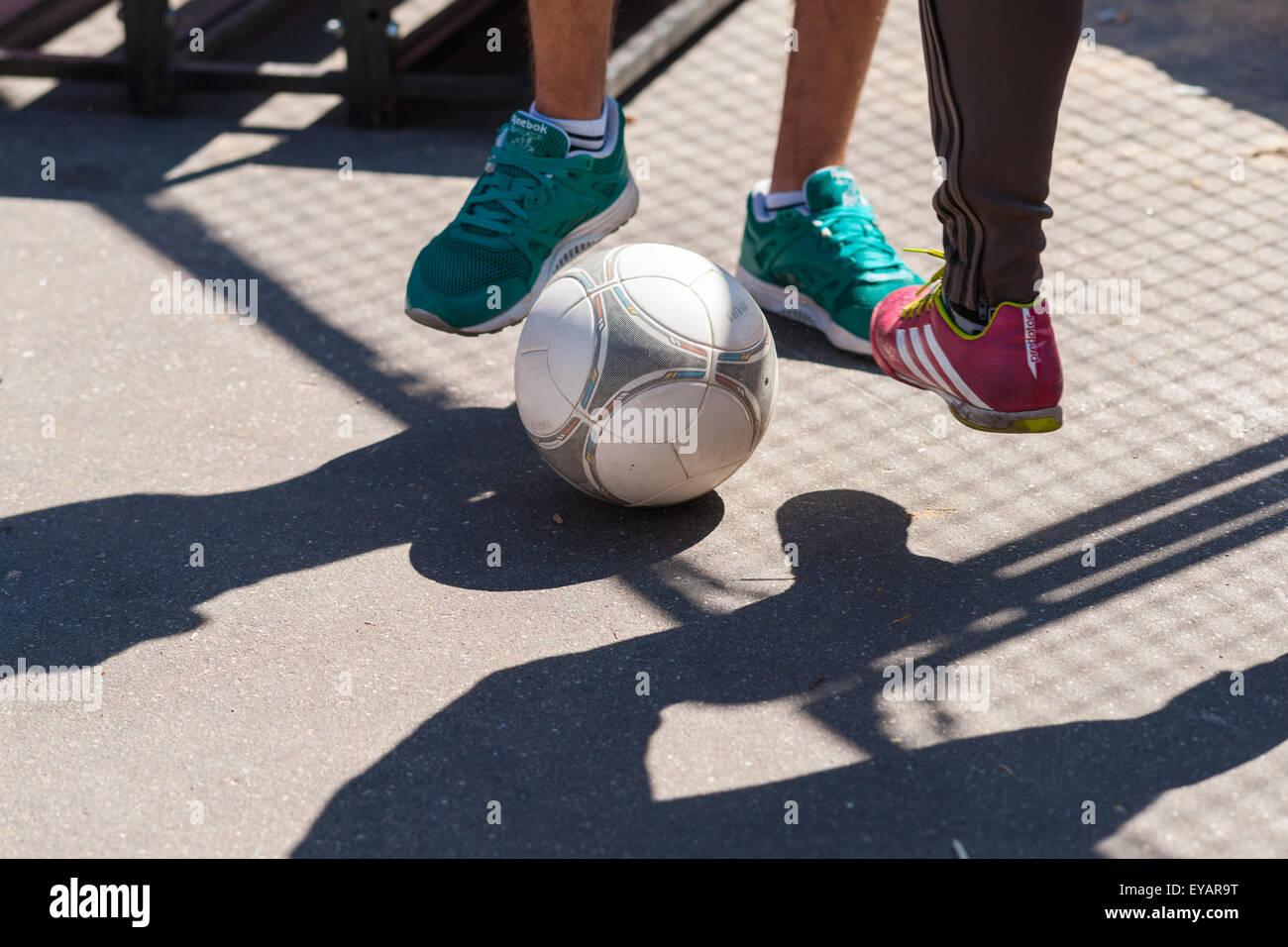 Moskau, Russland. 25. Juli 2015. Moskau City Games 2015 Sportfest fand im olympischen Sport komplexe Luzhniky von Stockbild