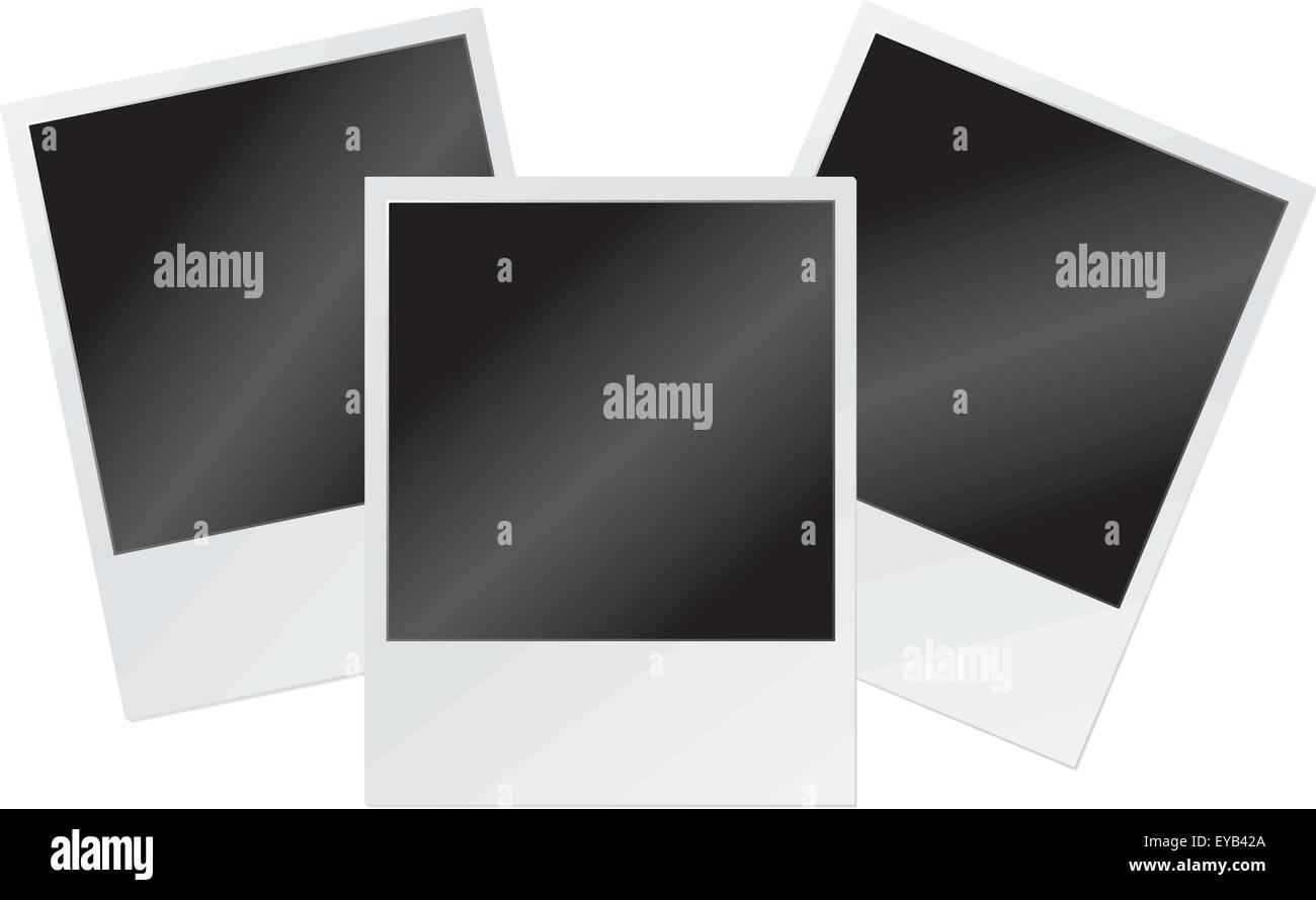Vektor-Illustration von leeren Polaroid-Rahmen Vektor Abbildung ...