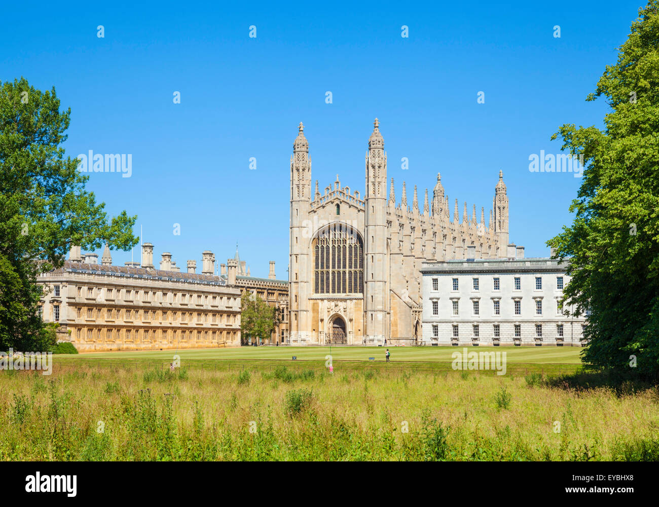 Kings College Chapel, Clare College und Gibbs Building aus dem Rücken Cambridge Universität Cambridgeshire Stockbild