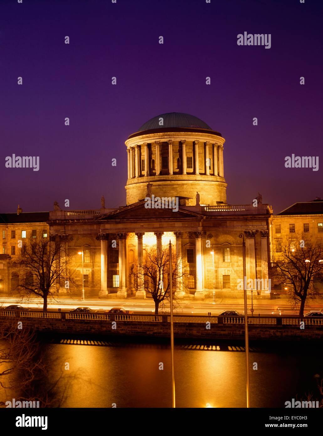 Dublin, die vier Gerichte Stockfoto