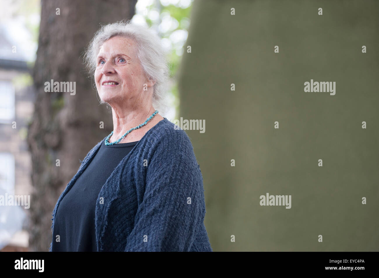 Britischer Literaturkritiker und akademischen, Gillian Beer am Edinburgh International Book Festival erscheinen. Stockbild