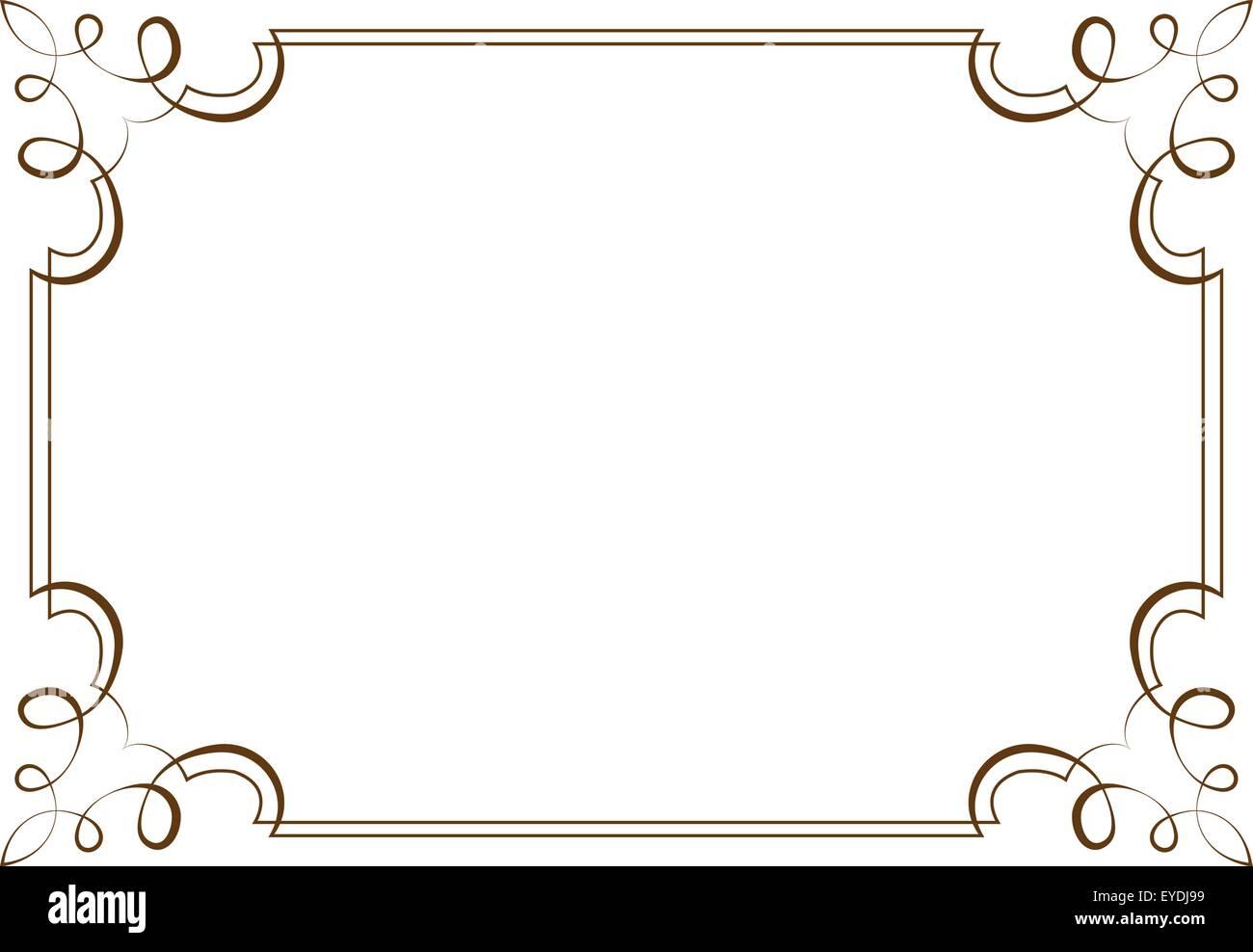 Vektor horizontalen Rahmen. Element für Grafik-design Vektor ...