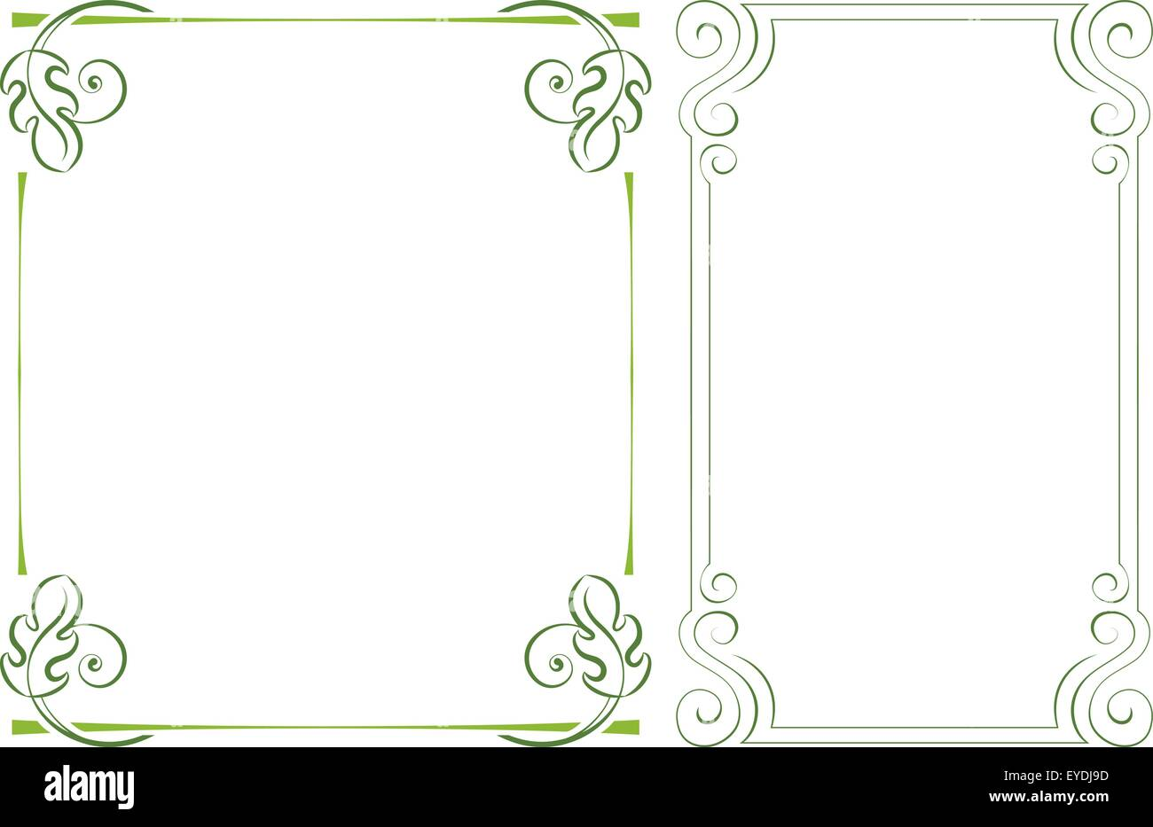 Vektor vertikalen Rahmen gesetzt. Element für Grafik-design Vektor ...