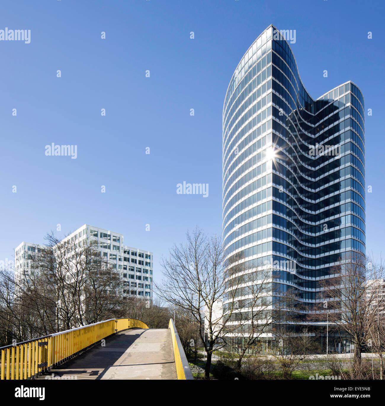 Skyoffice, Büroturm, Düsseldorf, Rheinland, Nordrhein-Westfalen, Deutschland Stockbild