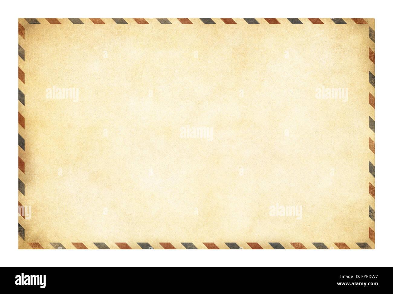 Alte Postkarte Vorlage mit Beschneidungspfad enthalten Stockfoto ...