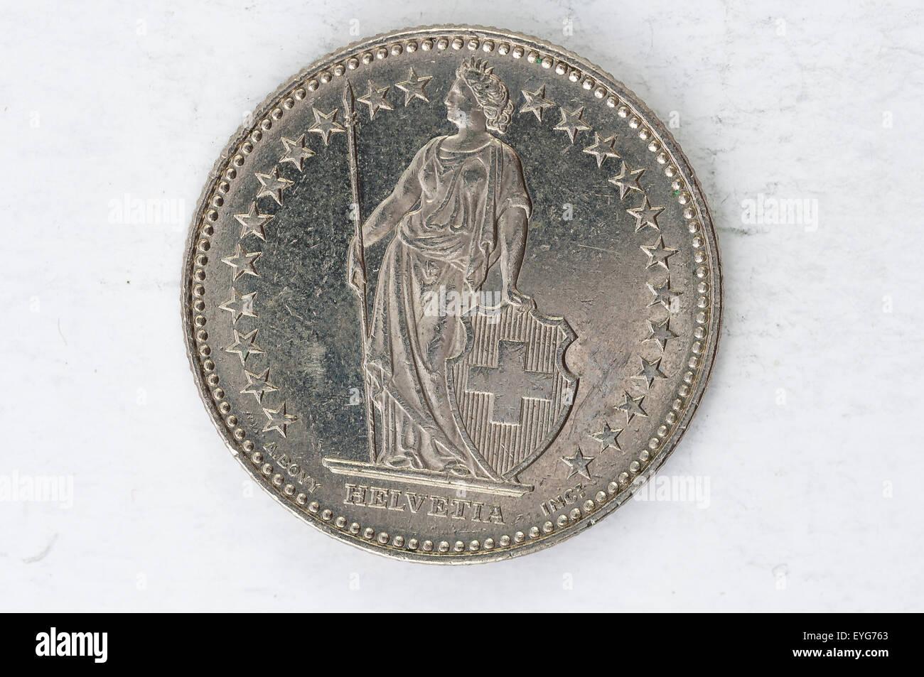 5 Der Schweiz Franken Münze 1965 Silber Verwendet Sehen Fünf