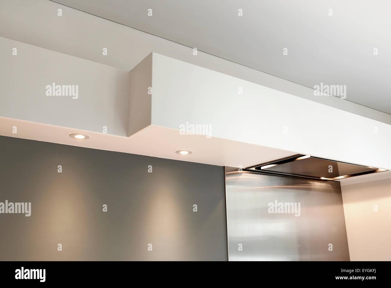 Detail einer gewölbten Decke ohne Fugen in einer Küche Stockfoto ...