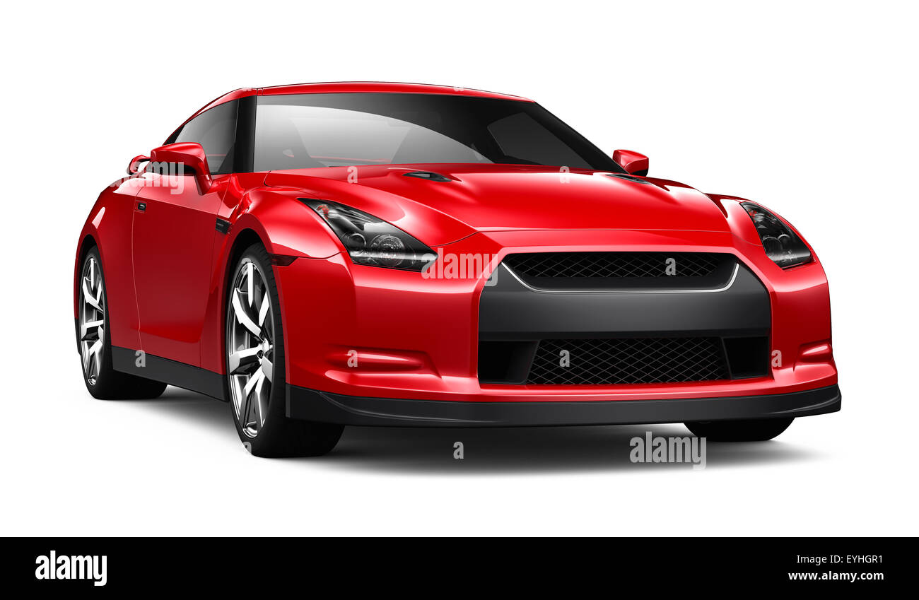 Roter Sportwagen Stockbild