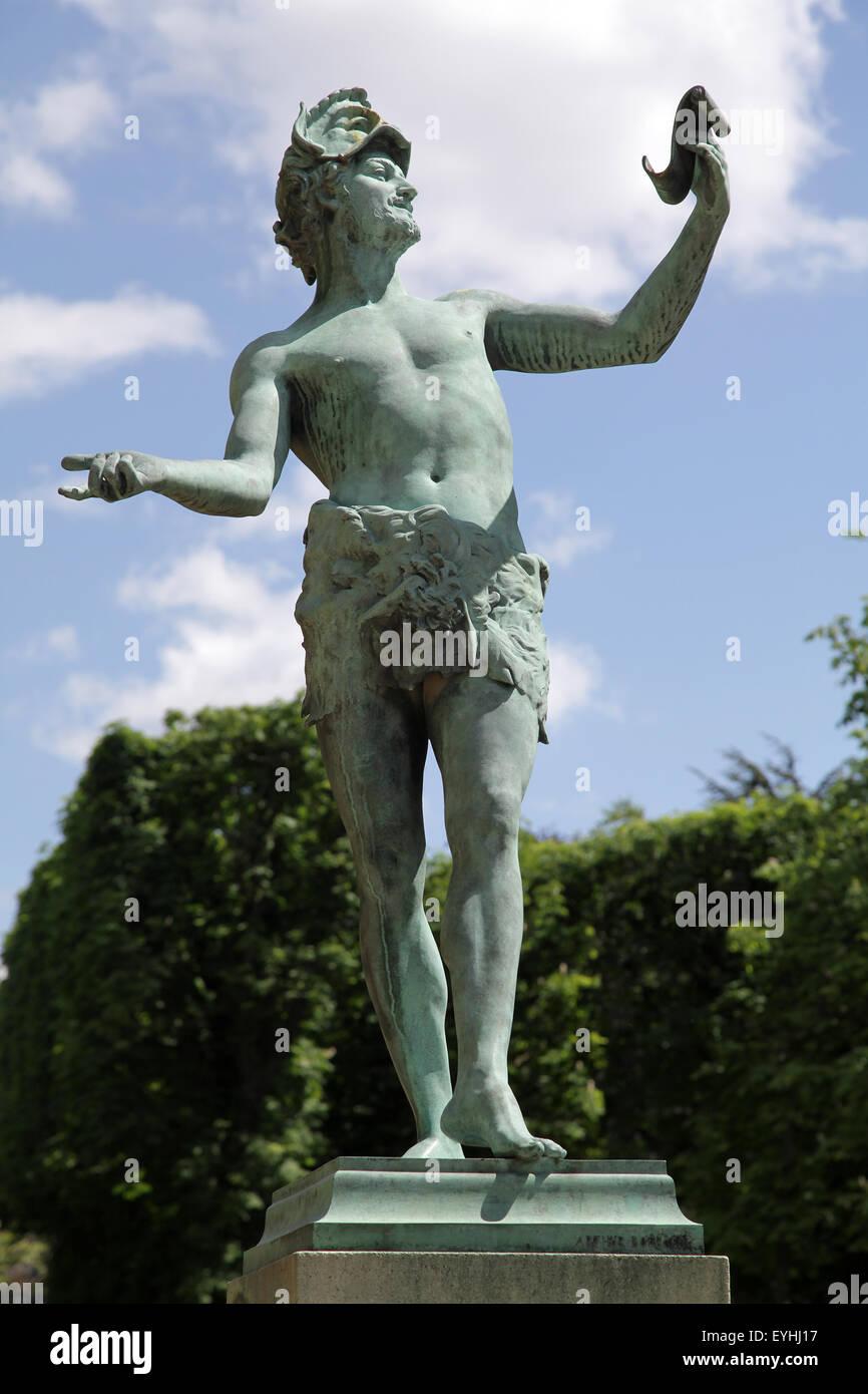 Die griechischen Schauspieler Arthur Bourgeois (1838-1886) Paris Jardin du Luxmbourg Stockbild