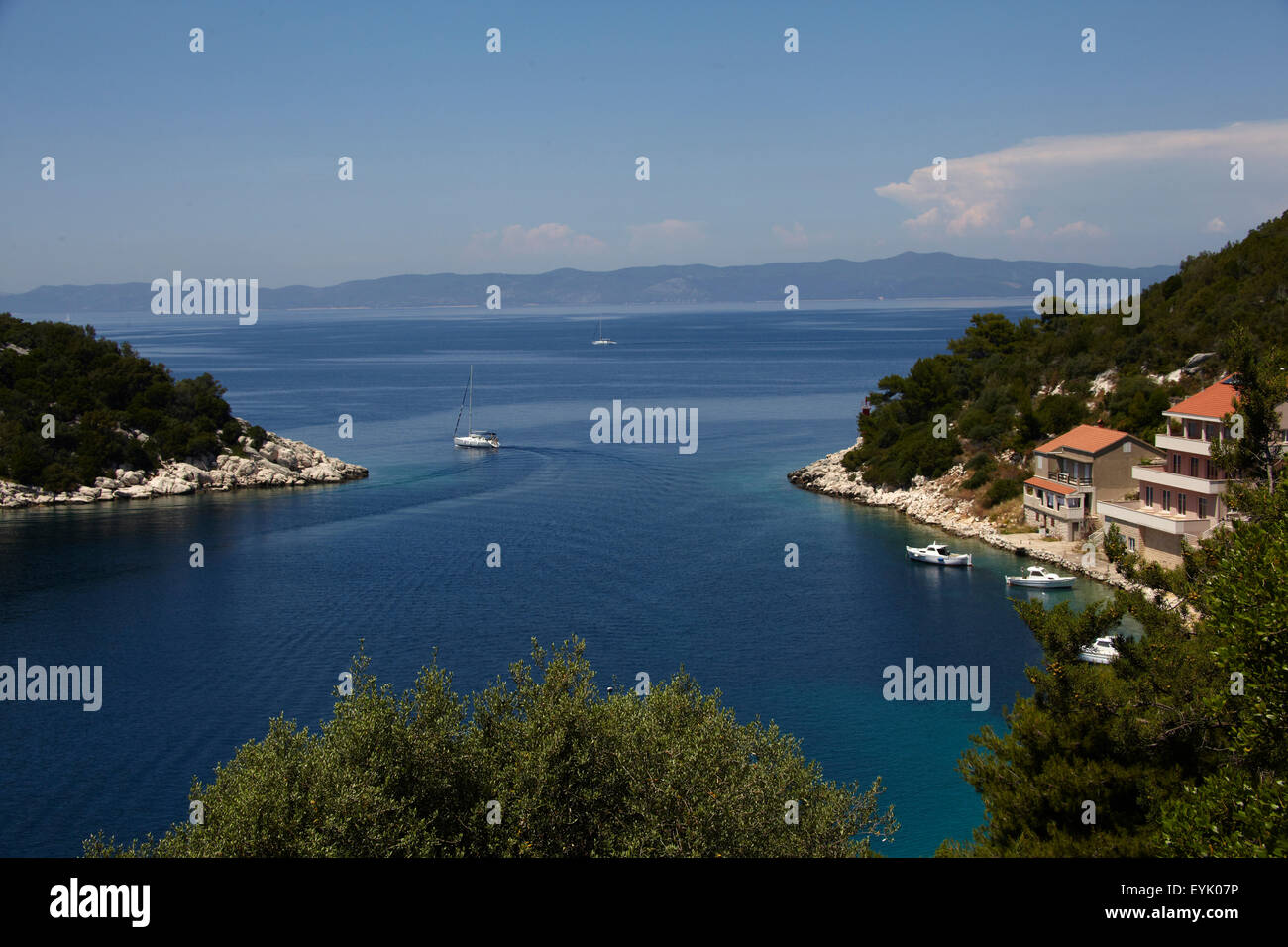 Europa, Kroatien, Dalmacia Provinz, Insel Lastovo, Adria, Zaklopatica Bucht, Stockbild