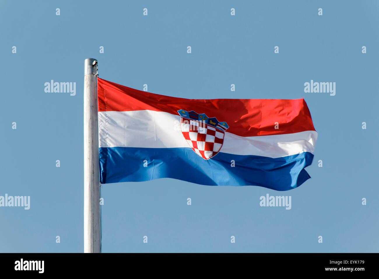 kroatische flagge kroatien stockfoto bild 85855261 alamy. Black Bedroom Furniture Sets. Home Design Ideas