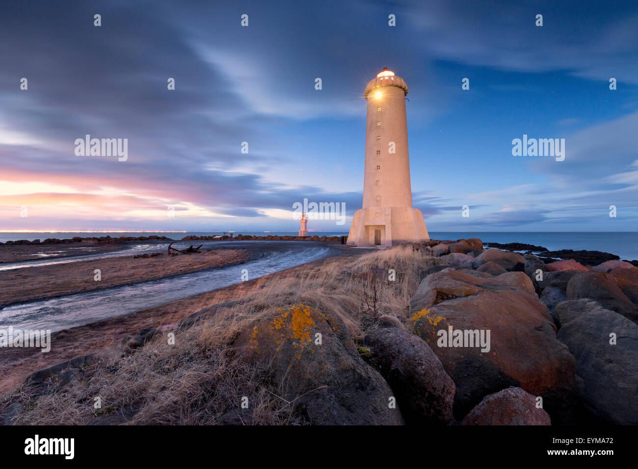 Gas Water Licht : Akranes leuchtturm island atmosphäre blau licht farbe