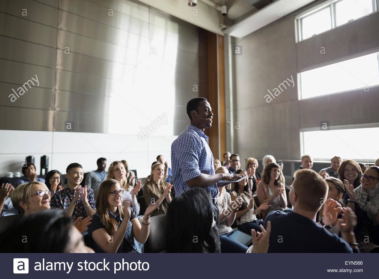 Professor Vortrag Auditorium Publikum Stockfoto