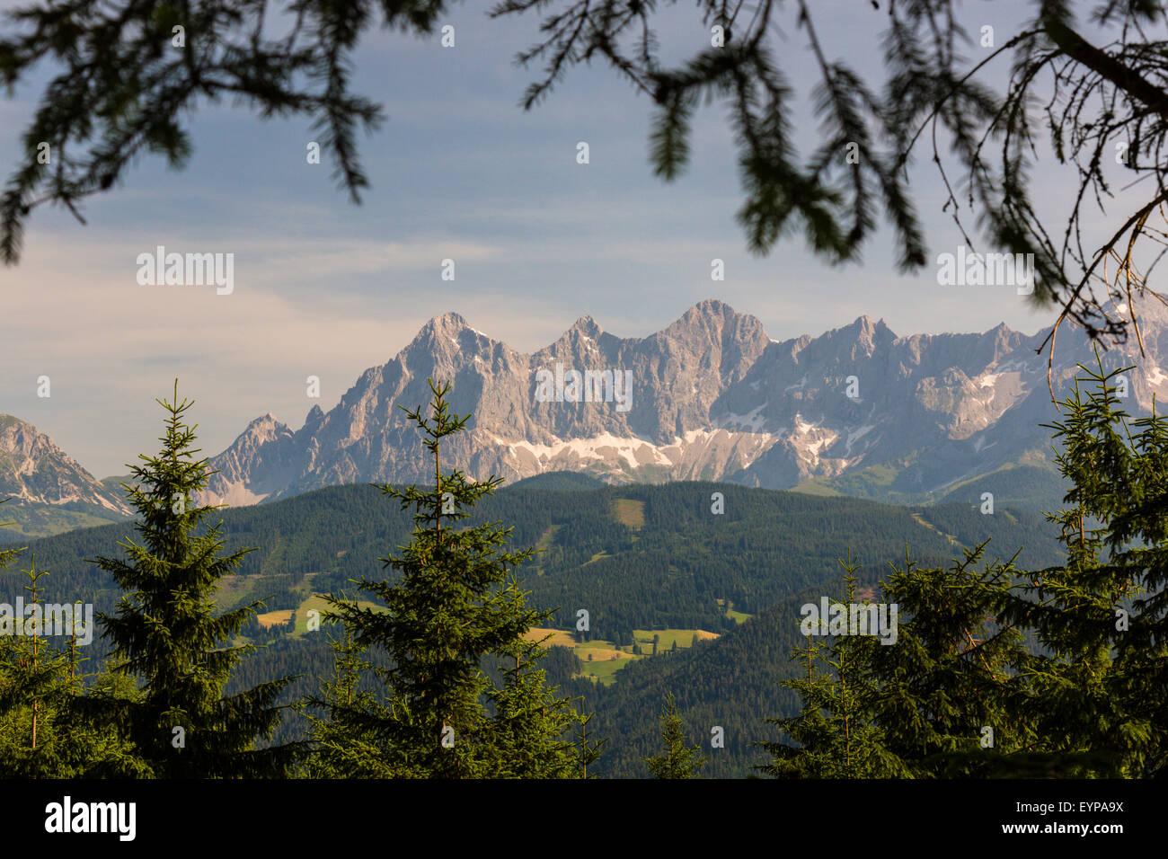 Geografie, Dachsteingebirge, Steiermark, Österreich Stockbild