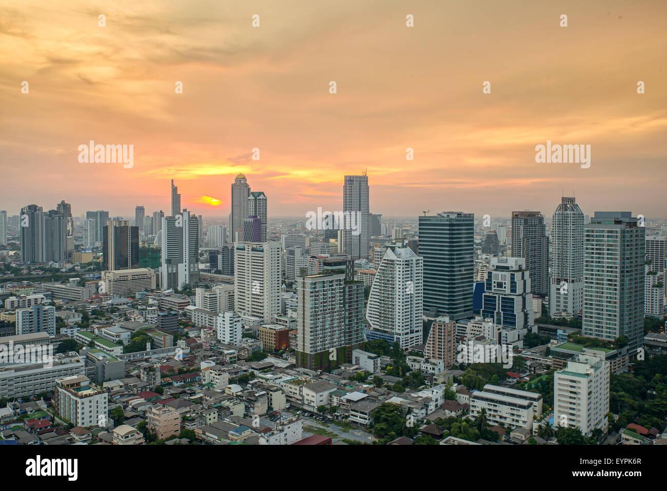 Stadtbild in der Mitte von Bangkok, Thailand Stockbild