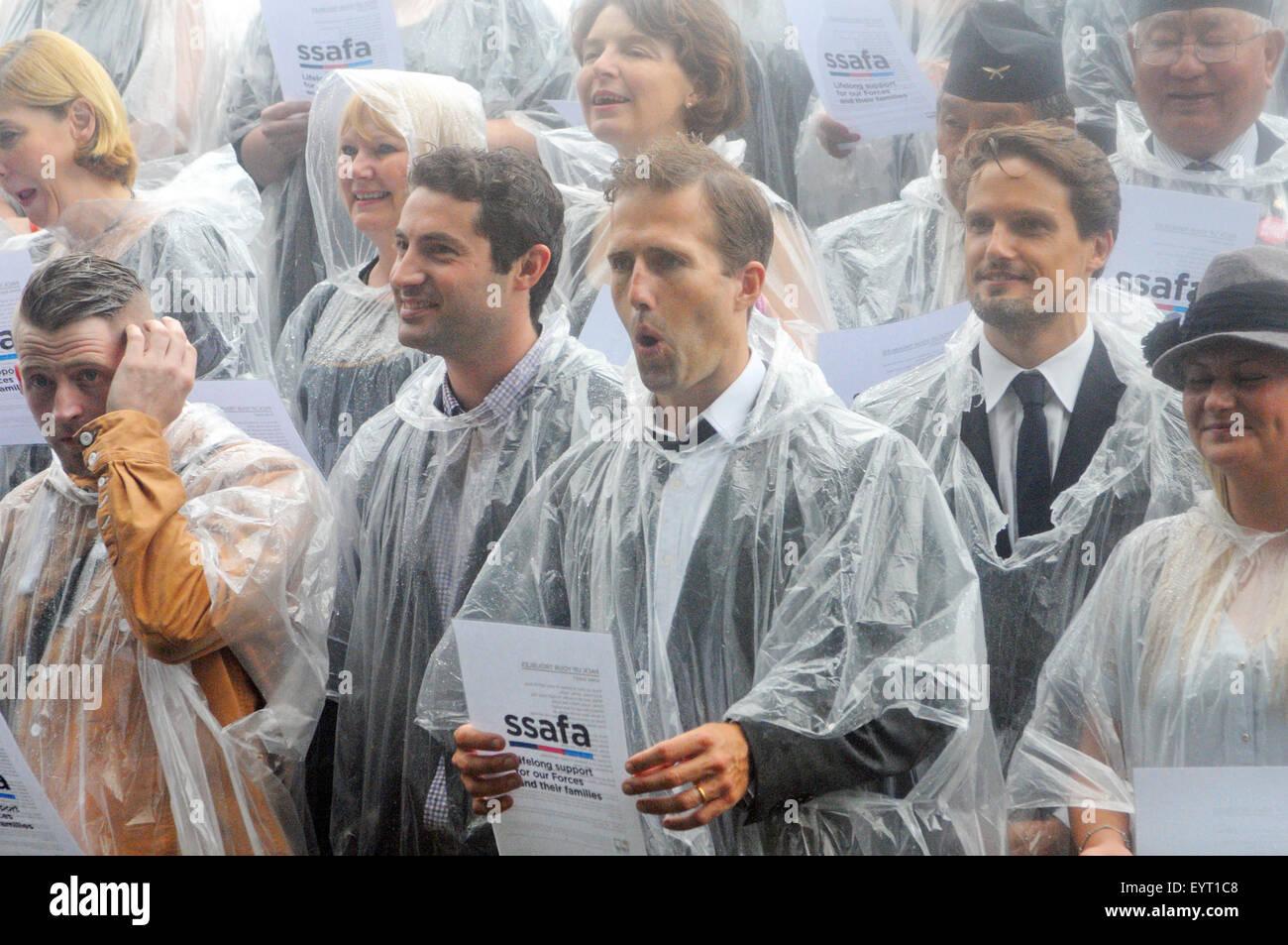 London, UK, 08.10.2014, SSAFA, The Großbritanniens älteste militärische Nächstenliebe startet Stockbild