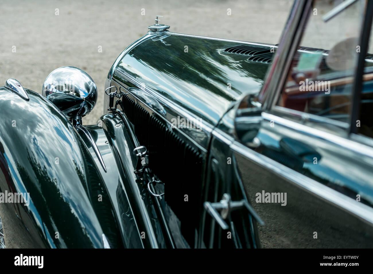 Schwetzingen, Baden-Wurttemberg, Deutschland, Detailansicht der Talbot QT 41, Bau Jahr 1937, Classic Gala Kleid, Stockbild