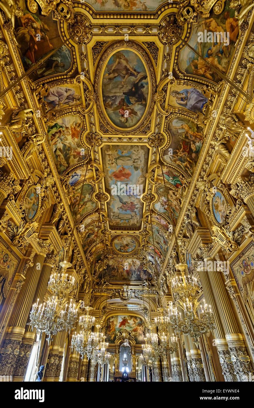 Le Decke le grand foyer mit fresken und reich verzierten decke paul