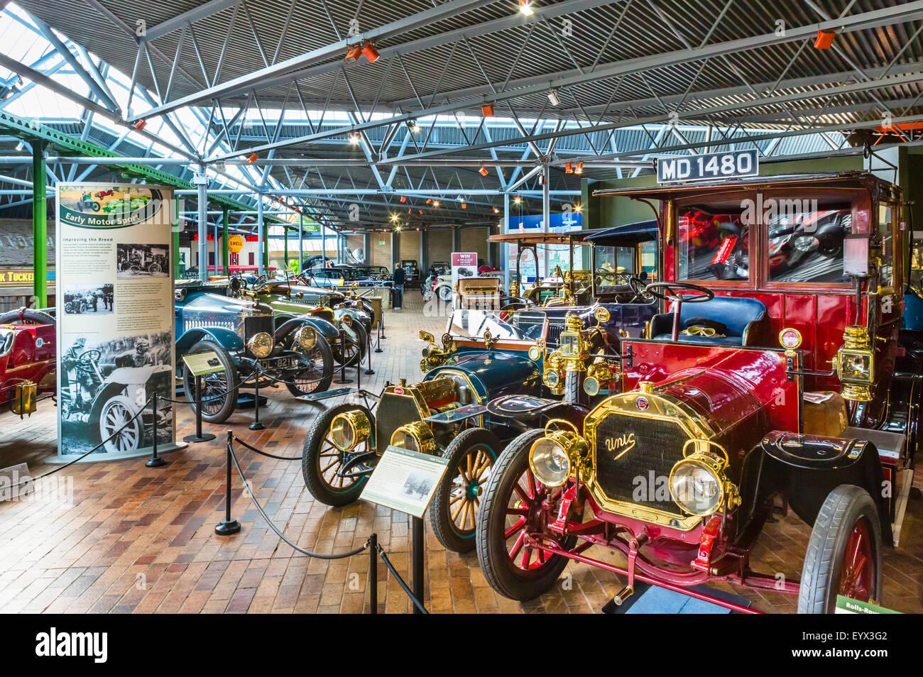 Das National Motor Museum in Beaulieu, Hampshire, England UK Stockbild