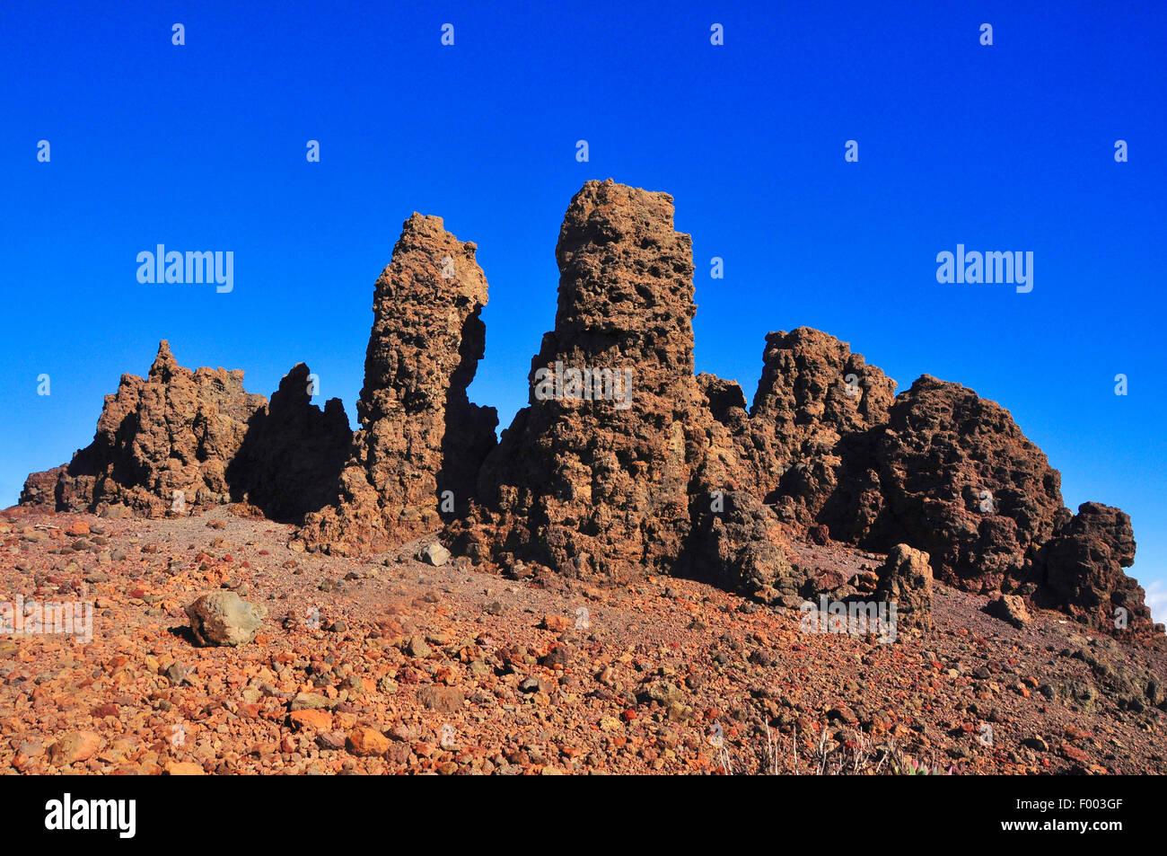 Roque de Los Muchachos, Kanarische Inseln, La Palma Stockfoto