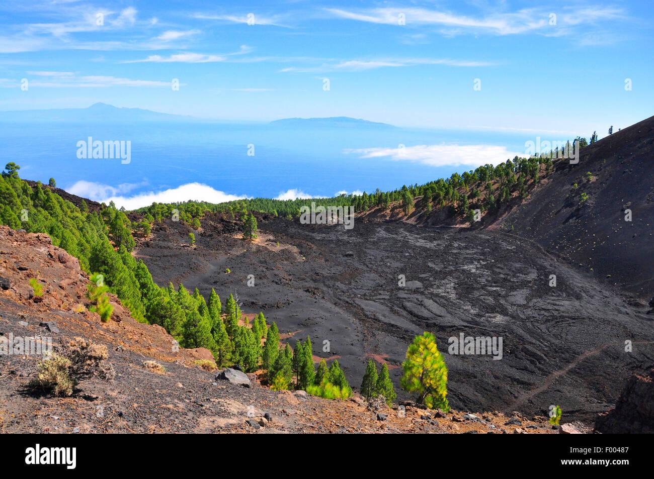San Antonio Volcano, Kanarische Inseln, La Palma Fuencaliente Stockfoto