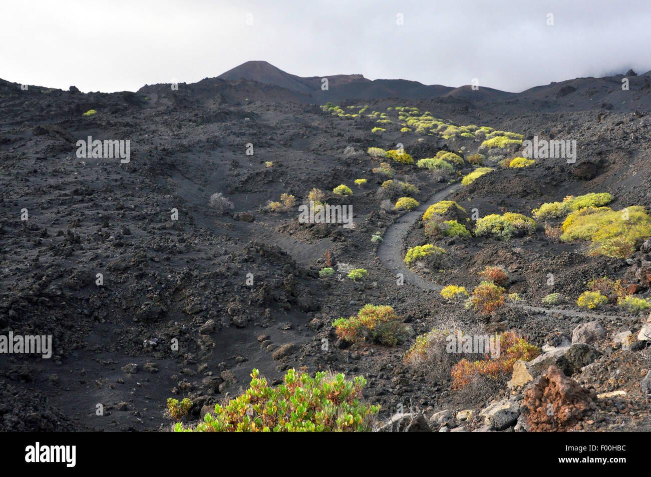 San Antonio Volcano, Kanarische Inseln, La Palma FuencalienteStockfoto