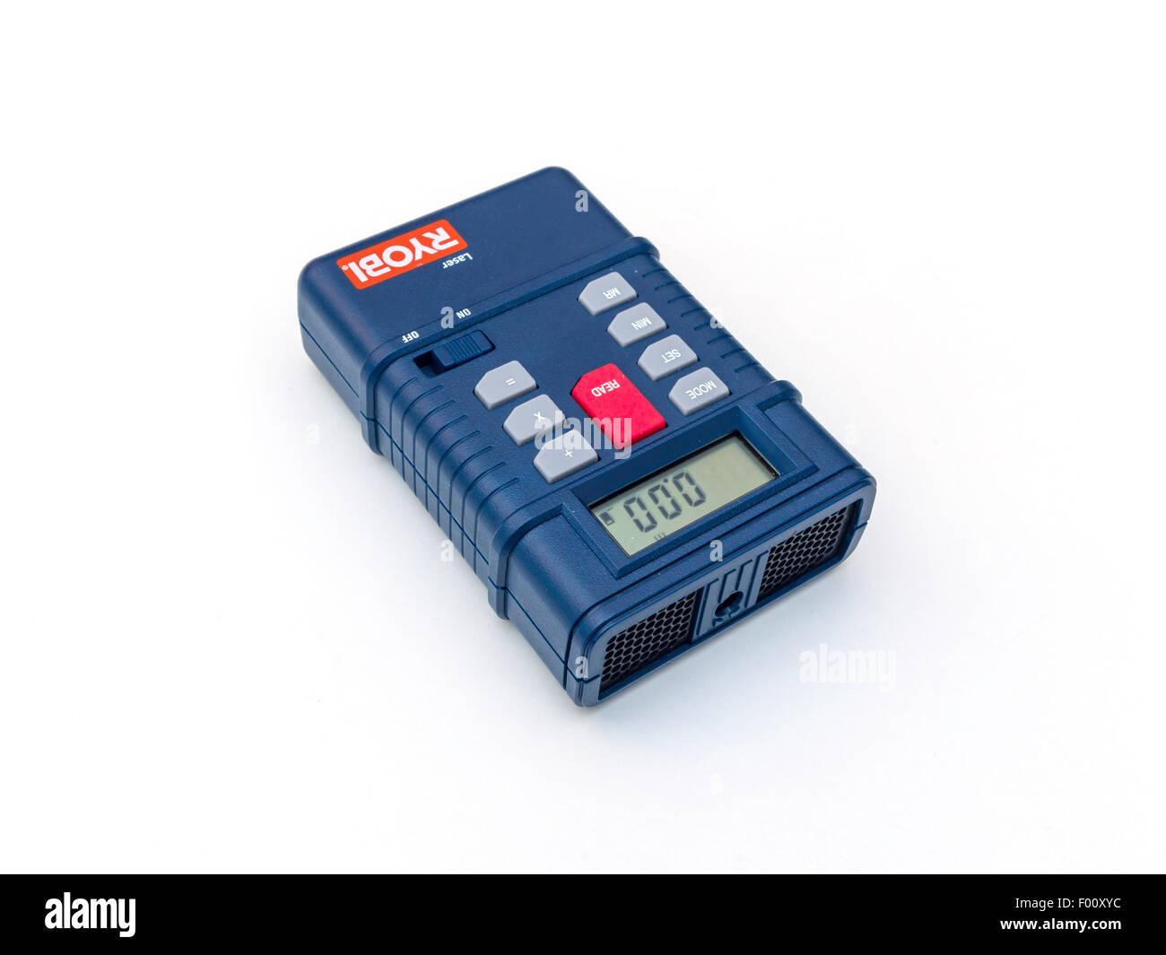 Ryobi lasermesseinrichtung an 0.6metres 12.5metres auf weißem