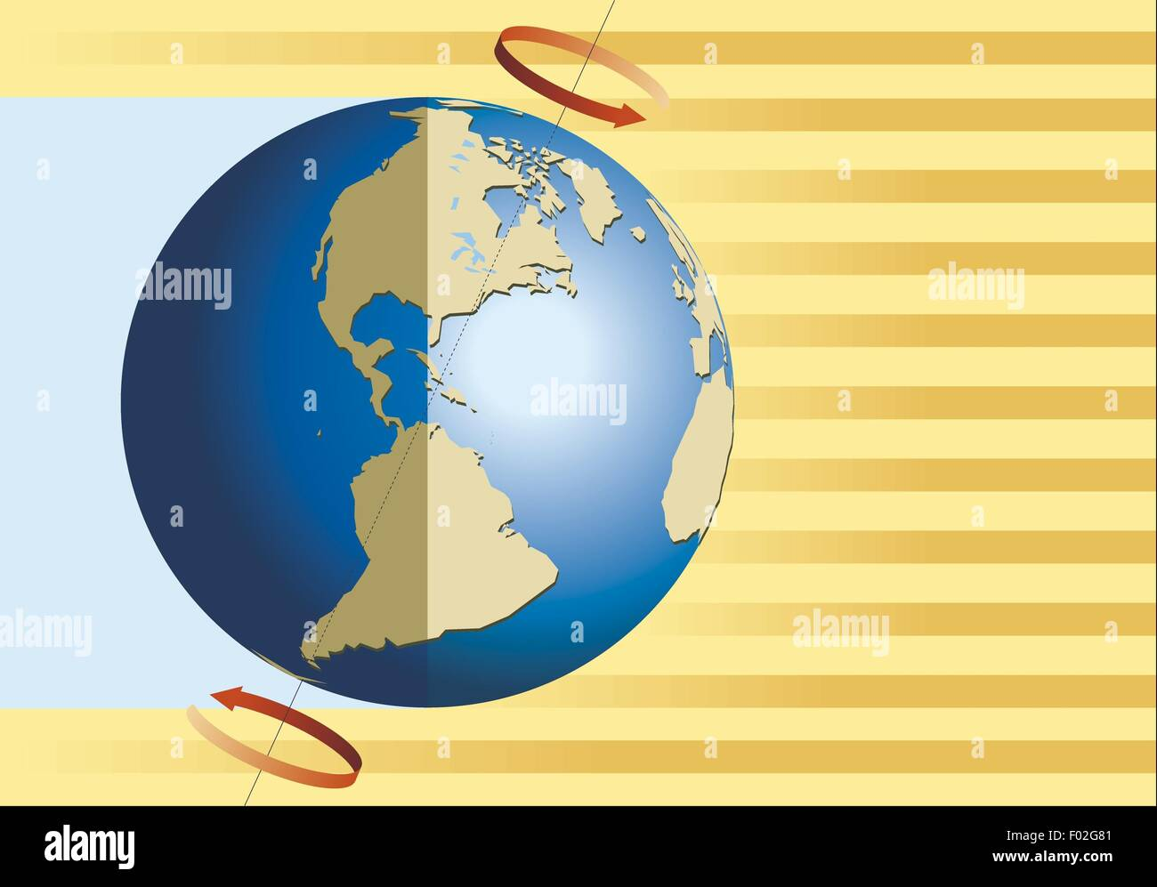 Earth Rotation Diagram Stockfotos & Earth Rotation Diagram Bilder ...