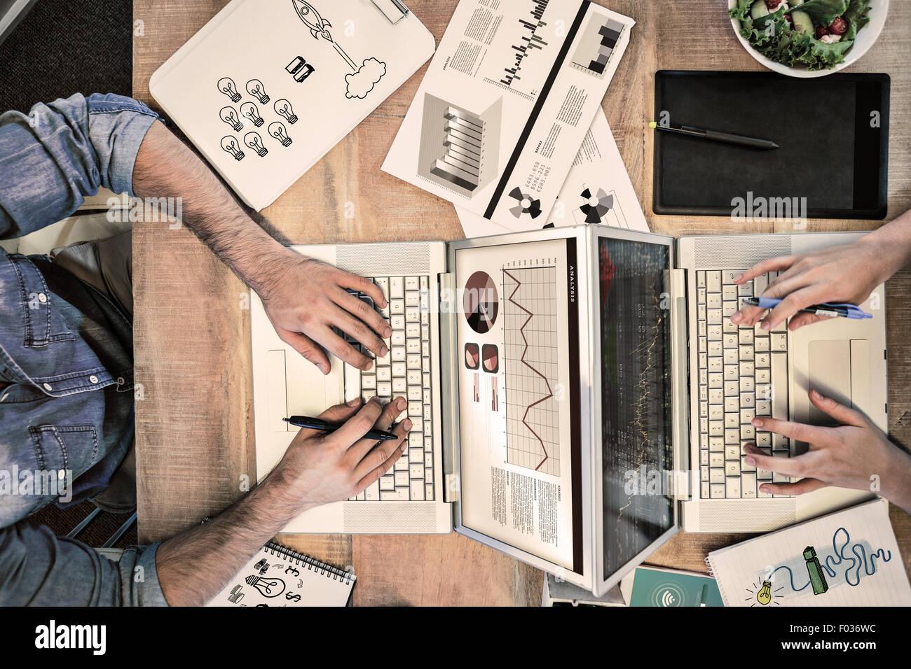 Zusammengesetztes Bild der Idee und Innovation Grafik Stockbild
