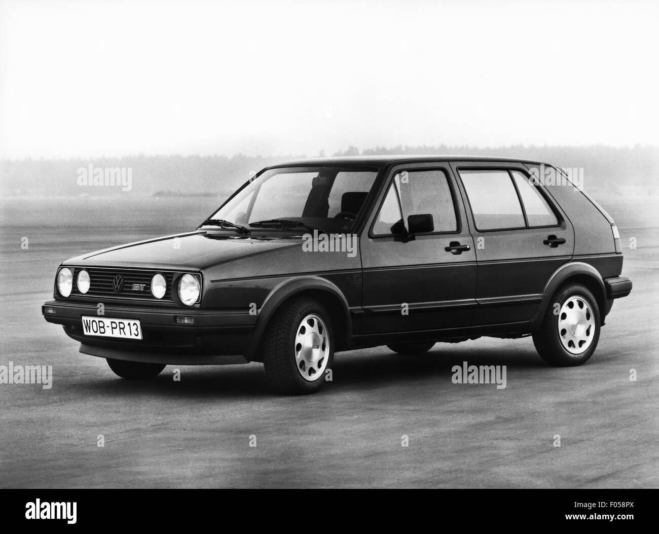 Verkehr/Transport, Auto, Fahrzeug Varianten, Volkswagen, VW Golf Mk2 GT, 1980er Jahre, Additional-Rights - Clearences Stockbild