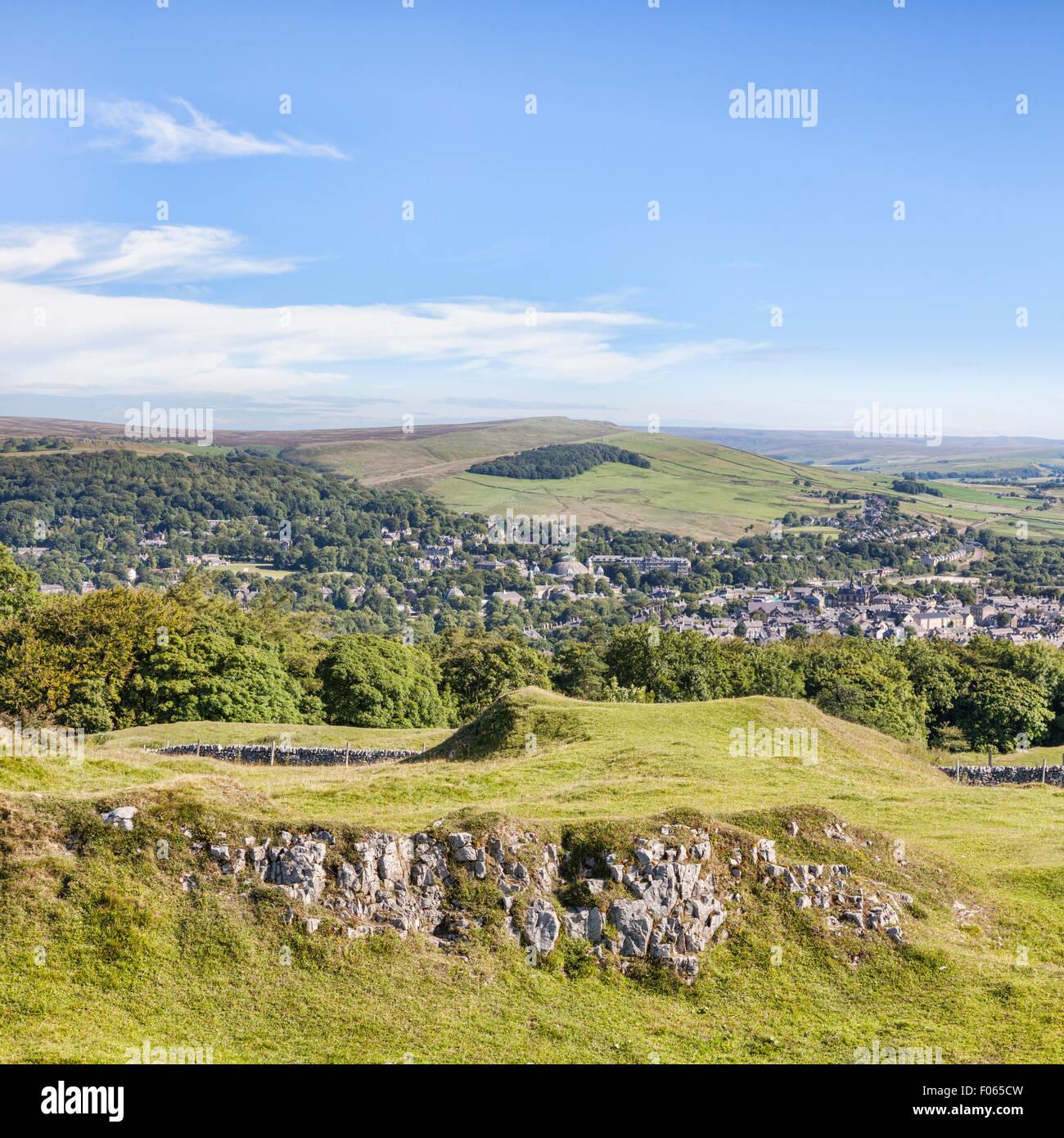 Der Peak District Buxton von Grin Low und Buxton Country Park, Derbyshire, England Stockbild
