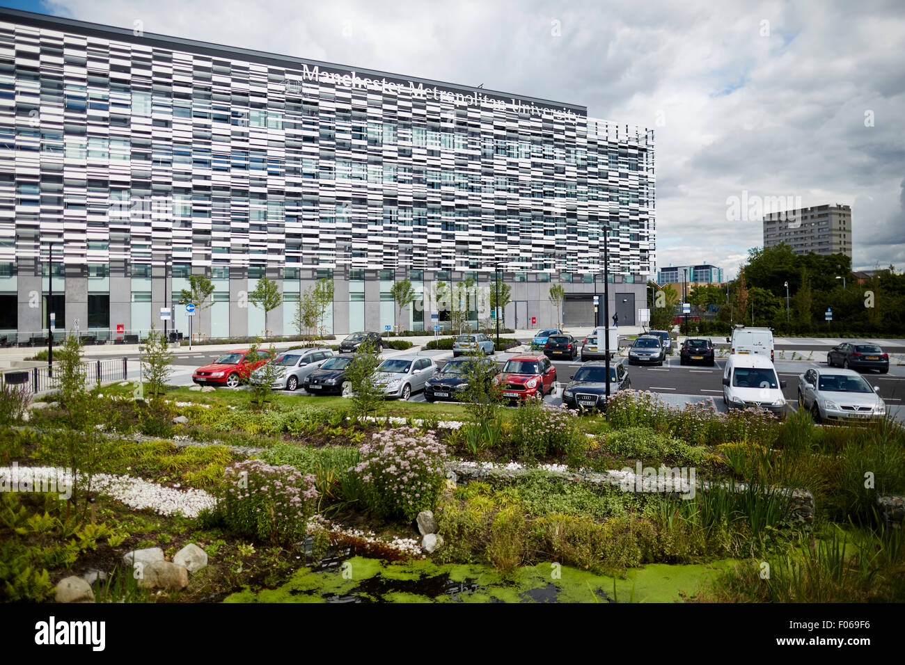 Manchester Metropolitan University Platzes Campus ist Heimat der Faculty of Health, Psychologie und Sozialwesen Stockbild