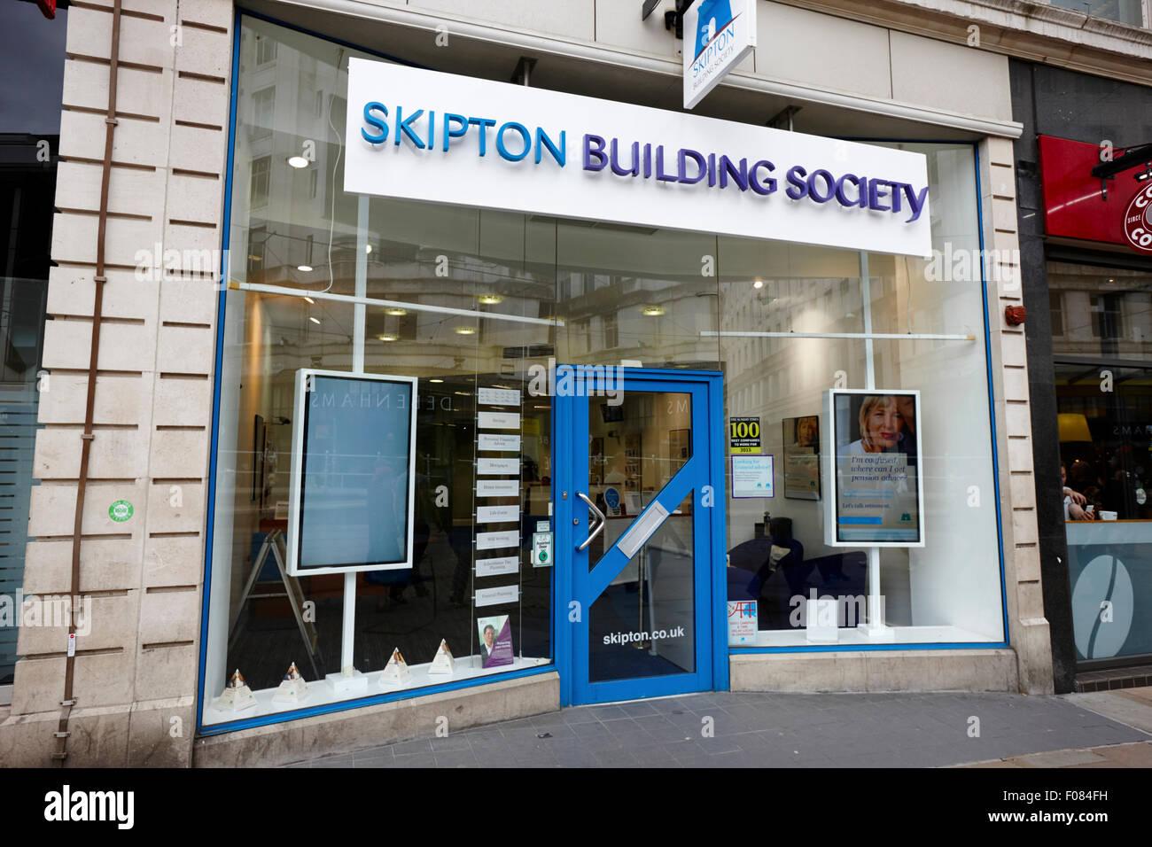 Skipton Bausparkasse Filiale Manchester England UK Stockbild