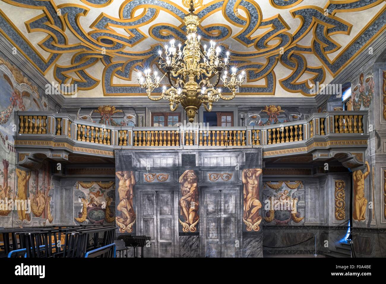 fresken von tommaso giusti am schloss herrenhausen in hannover deutschland stockfoto bild. Black Bedroom Furniture Sets. Home Design Ideas