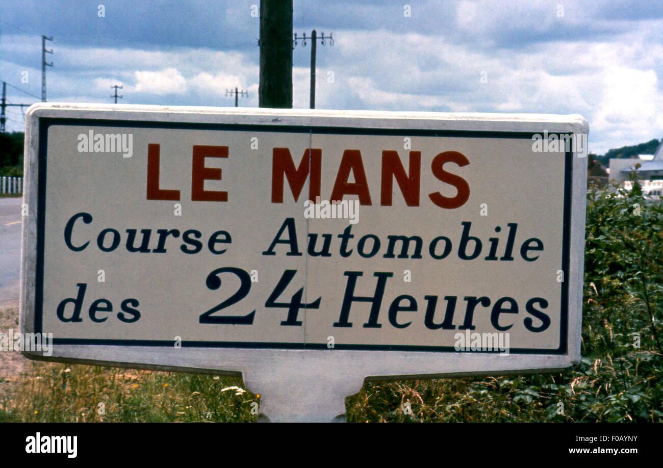 Le Mans 24 Stunden Rennen Sign. Stockbild
