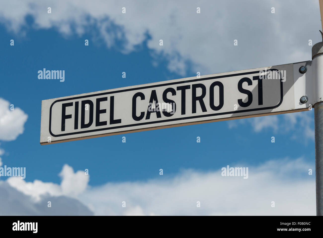 Straßenschild, Fidel Castro Street, Windhoek (Windhuk), Khomas Region, Republik Namibia Stockbild