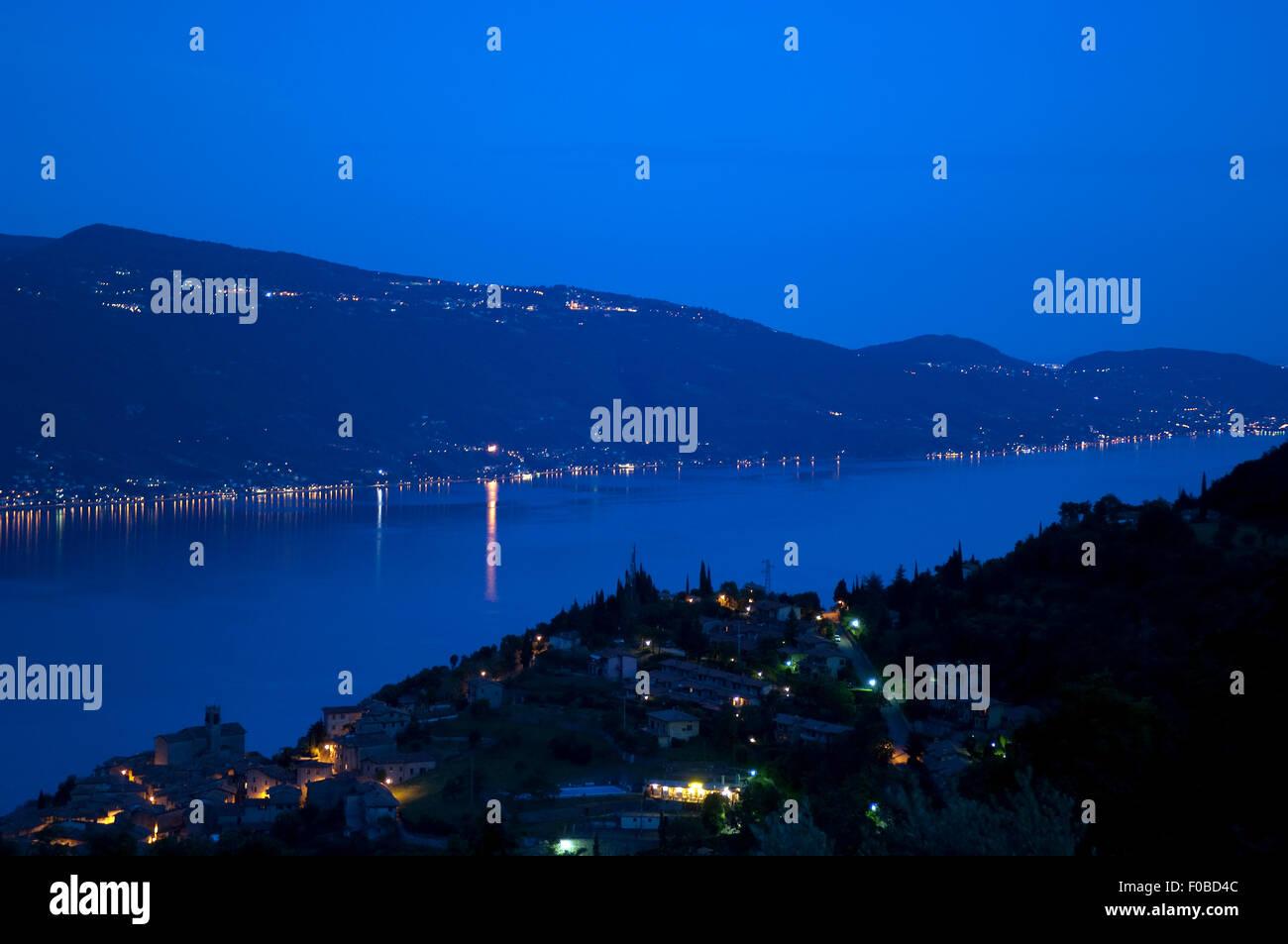 Gardasee, Trentino, ostufer Stockbild