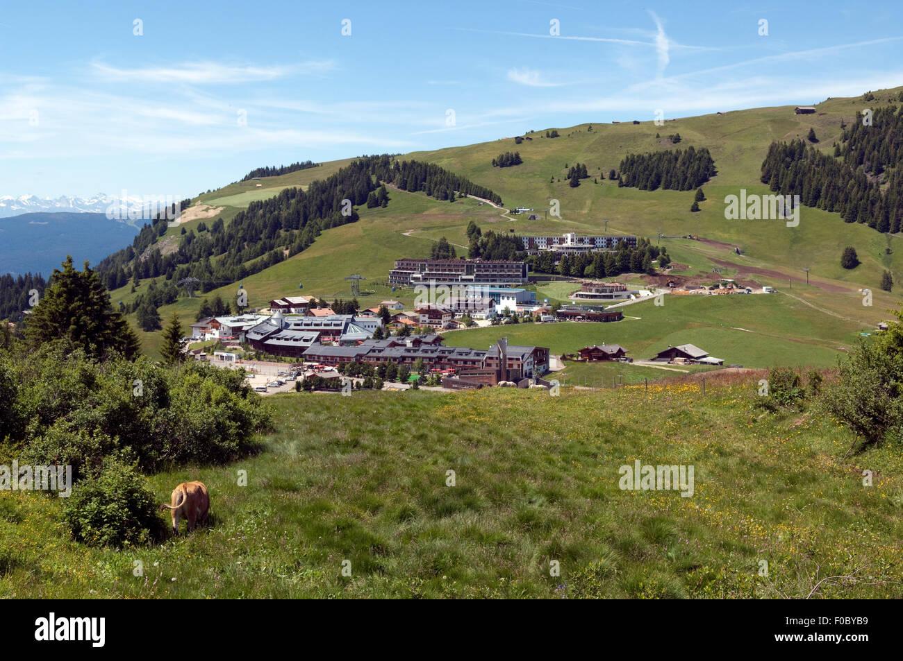 Kompatsch, Ort, Seiser, Alm, Dolomiten, Stockbild