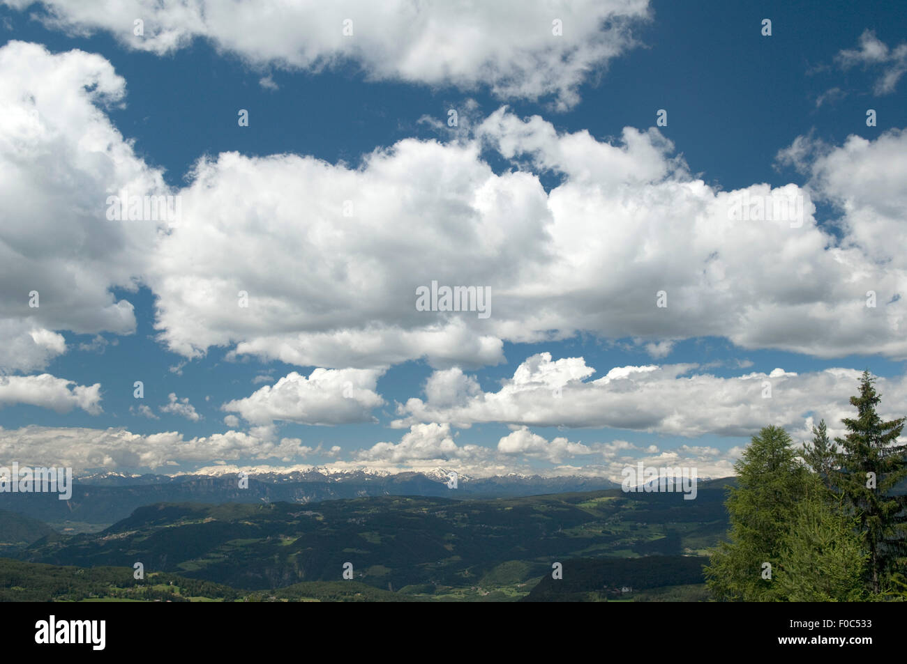 Blick Auf Ötztaler, Alpen, Zillertaler, Stockbild
