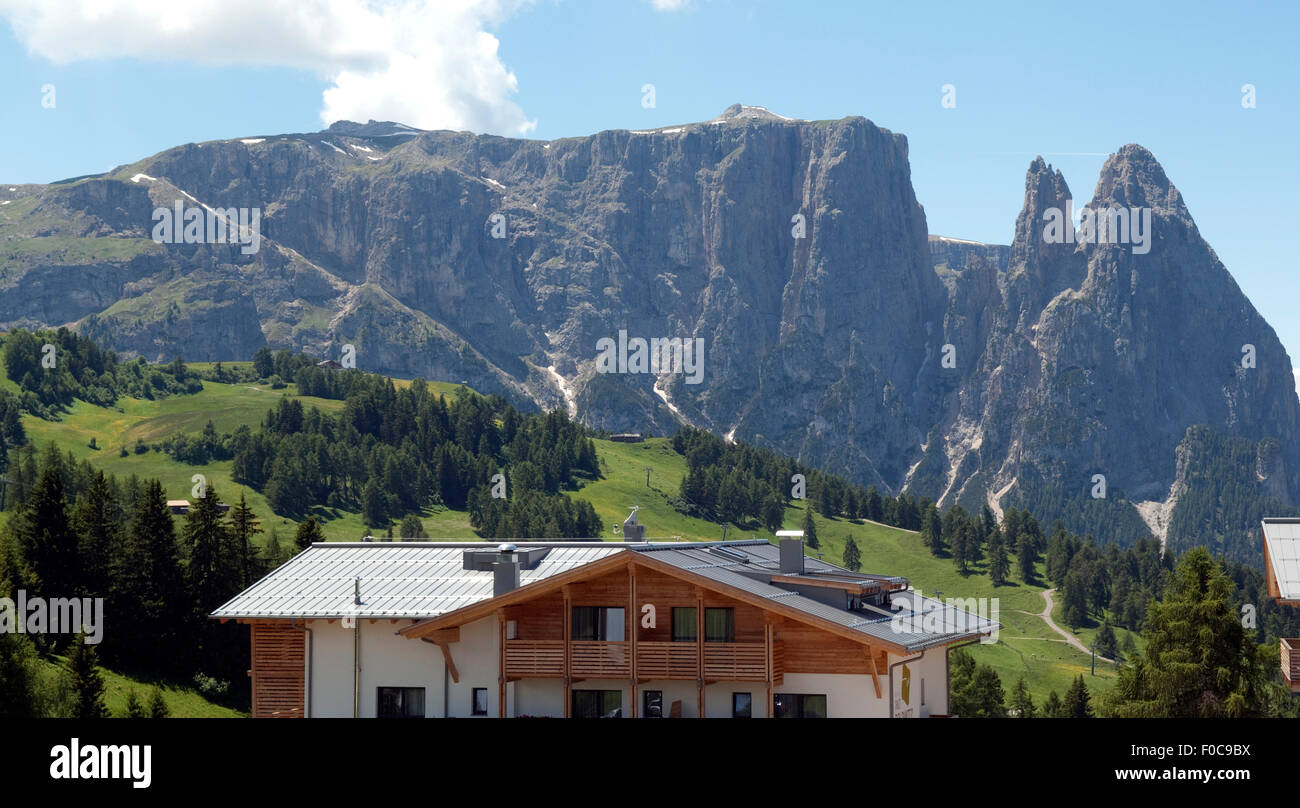 Schlern, Seiser, Alm, Dolomiten, Stockbild