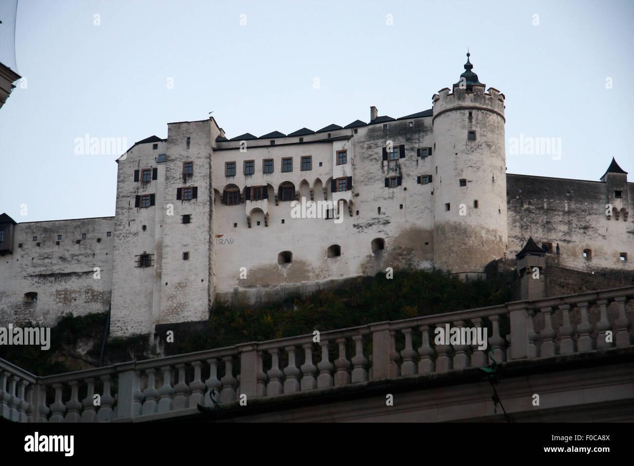 Festung Hohensalzburg, Salzburg, Oesterreich. Stockbild