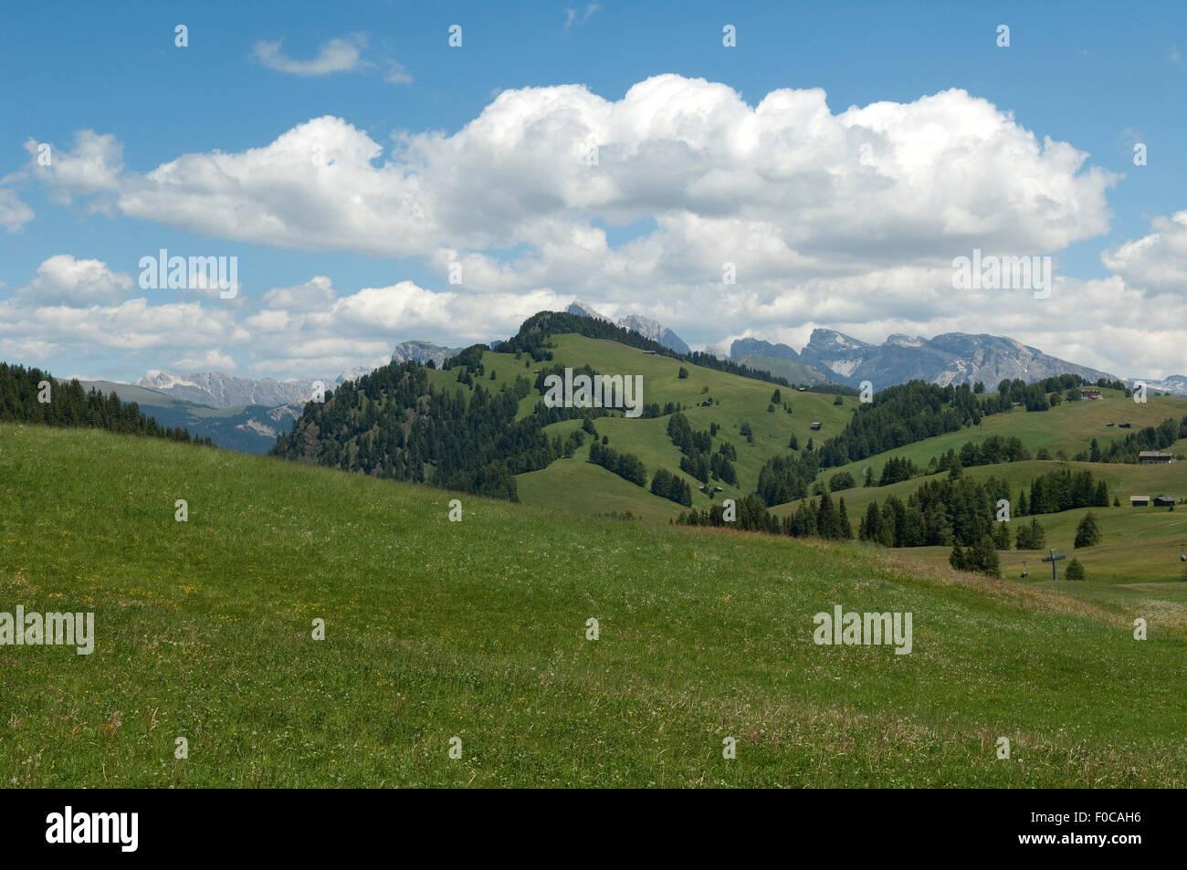 Seiser Alm, Dolomiten, UNESCO-Weltnaturerbe Dolomiten, Stockbild