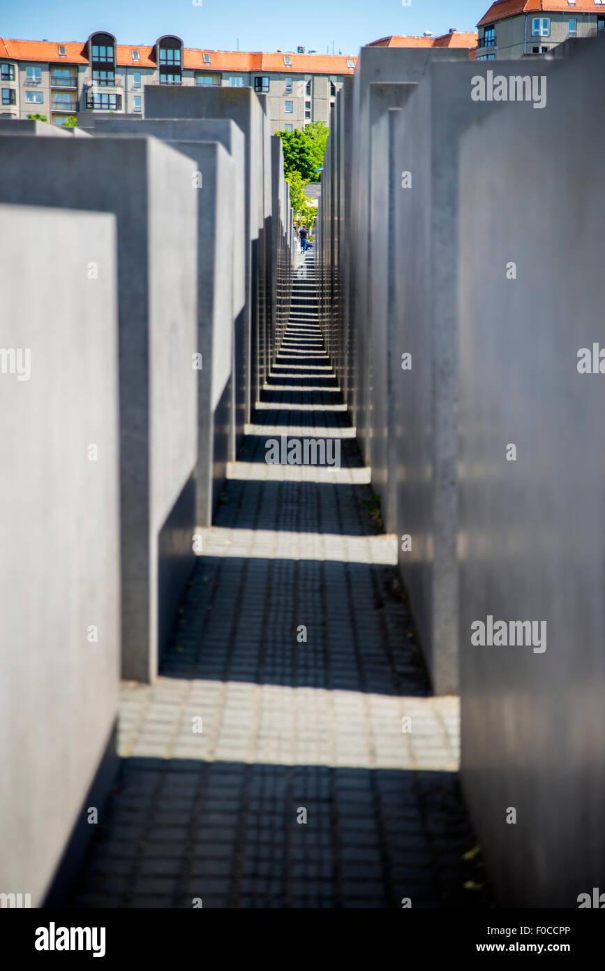 Holocaust-Mahnmal, Berlin, Deutschland Stockfoto