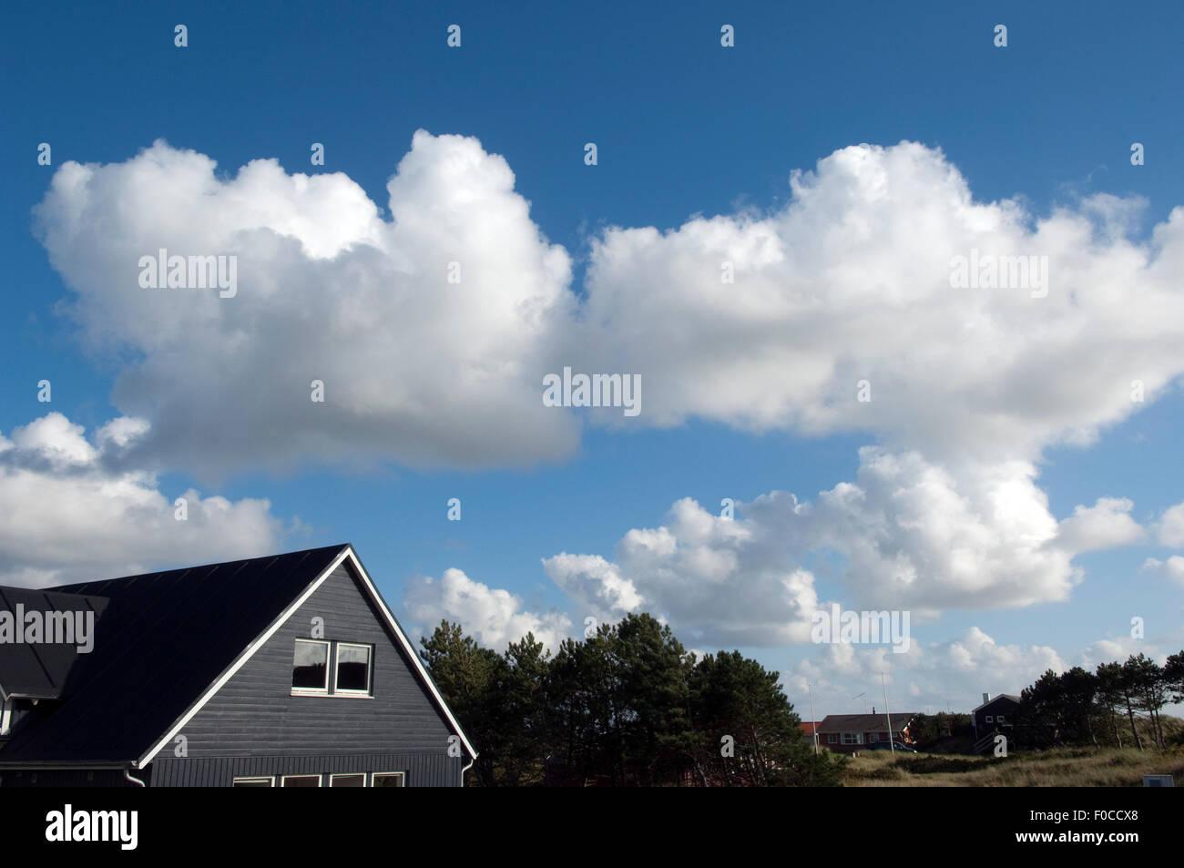 Wolken, Blau Konvektionswolken Stockbild
