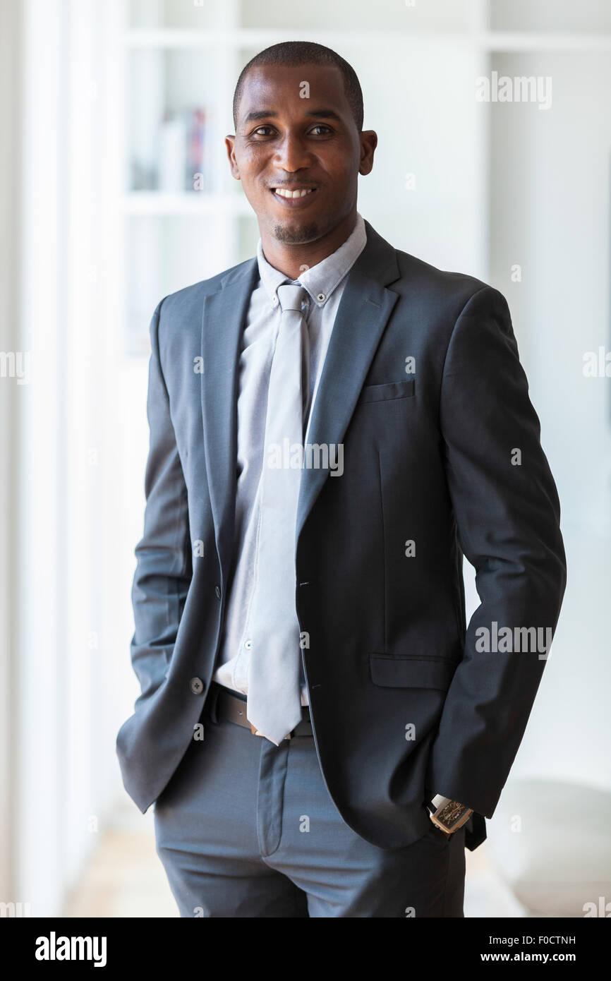 Afrikanische amerikanische Geschäftsmann - Menschen mit schwarzer Hautfarbe Stockbild