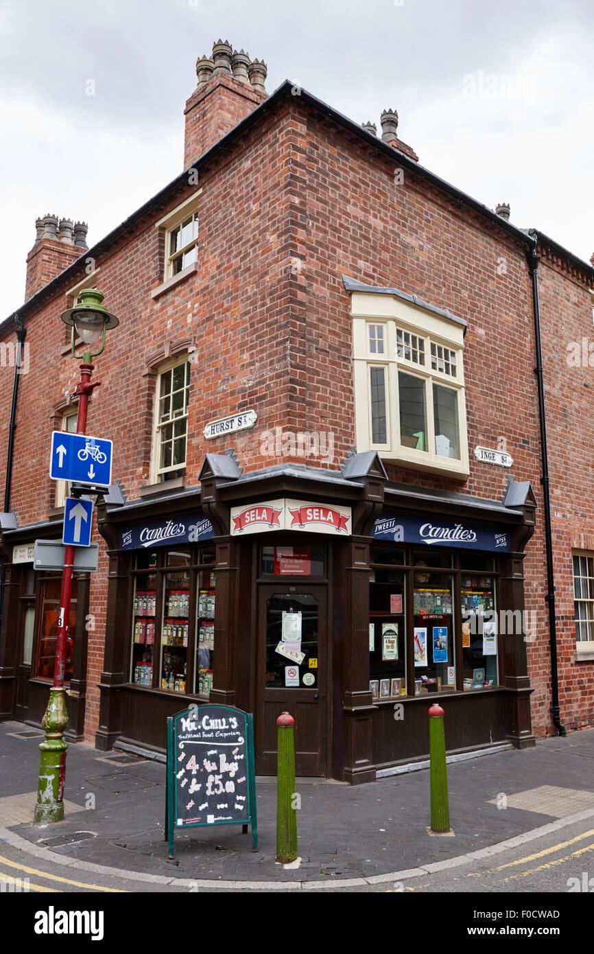 Gericht 15 Birmingham zurück zu Rückseiten Museum Hurst und Inge Straßen Birmingham UK Stockbild