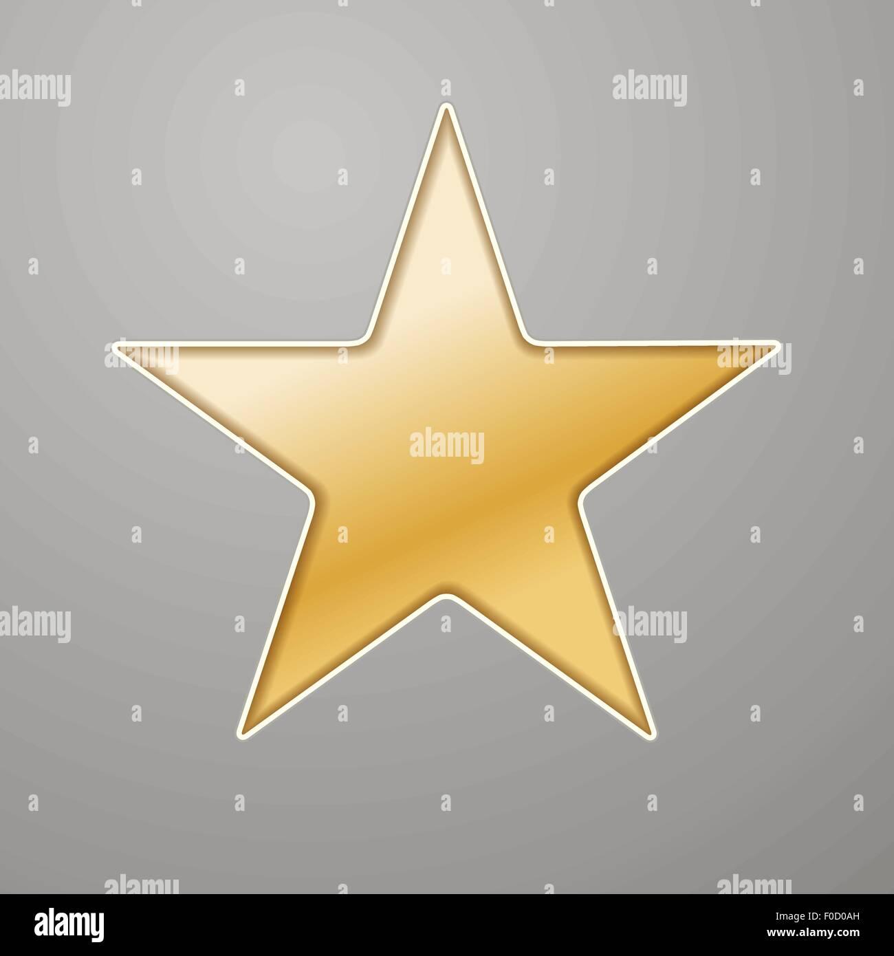 Goldene Sterne Hintergrund in graues Papier ausschneiden Vektor ...